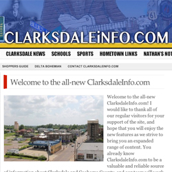 Clarksdale Info websitse