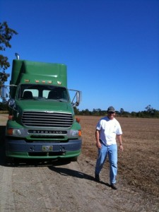 John mckee and truck 225x300 Mississippi Farmer Lil John McKee on his farm near Friars Point, MS