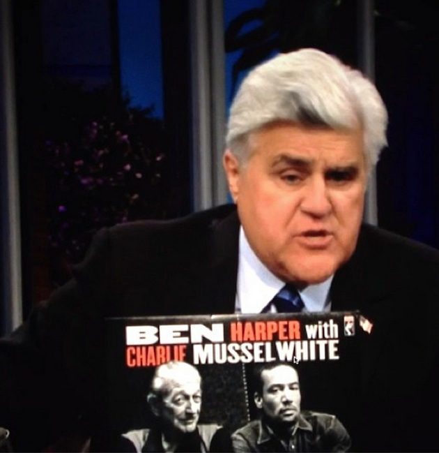 Jay Leno introducing Charlie Musselwhite and Ben Harper