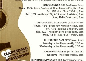 Sounds Around Town in Clarksdale for week of December 3, 2013