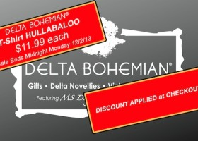 DELTA BOHEMIAN TSHIRT HULLABALOO - Now through midnight Monday 12/2/13