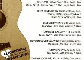 Sounds Around Town in Clarksdale Week of December 12, 2013