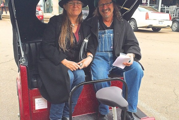 Holy Moly owners Carla and Adrian Kosky on the DB Excursion Pedicab