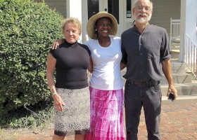 Francine Luckett, University of Alabama professor Dr. Sharony Green and her husband John