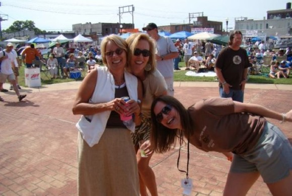 Becky Williams, Magical Madge and Shelley Ritter at Sunflower River Blues Festival