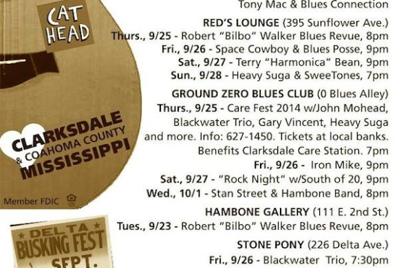 SOUNDS AROUND TOWN in CLARKSDALE beginning week of September 24, 2014