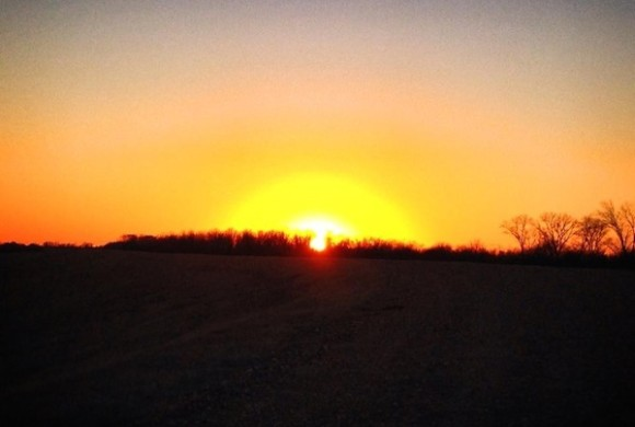 Sunset in the Mississippi Delta. ©2014 Photo by DELTA BOHEMIAN®