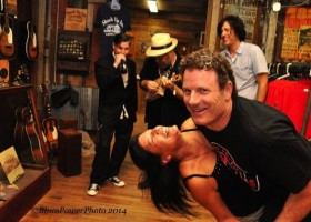 Ray Proetto and Leslie dancing to The Gift Shop Trio Clarksdale Juke Joint Festival 2014