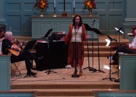 Violinist Alice Hasen, Guitarist Pastor Bill Gleason, Singer Magical Madge at First Presbyterian Church in Clarksdale