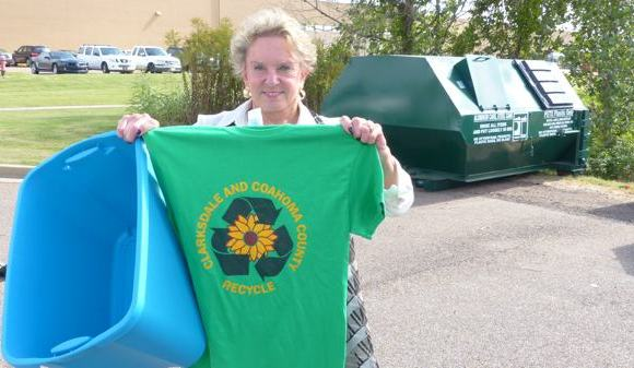 Clarksdale's First Lady Francine Luckett is passionate about recycling.