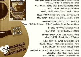 SOUNDS AROUND TOWN in CLARKSDALE beginning Thursday, October 23, 2014