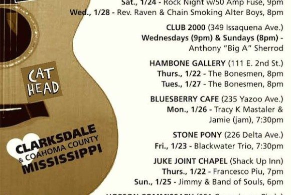 SOUNDS AROUND TOWN in CLARKSDALE beginning Thursday, January 22, 2015