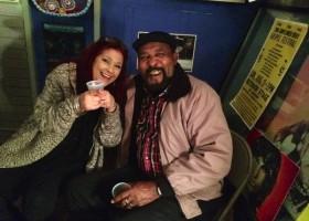 Bluesberry Cafe owner Carol Crivaro with James Super Chikan Johnson