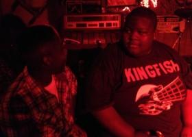 Drummer Hollywood Rashaun Riley and Christone Kingfish Ingram at Red's Lounge ©2013 DELTA BOHEMIAN®