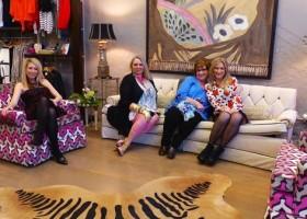 Dorry Lea Davis, Marilyn Trainor Storey, Cathy Campbell,  Jordan Easley Yancey at Bella in Helena on Grand Opening night
