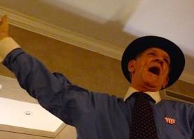 """Watermelon Slim singing """"Northwest Passage"""" at The Alluvian Hotel in Greenwood"""