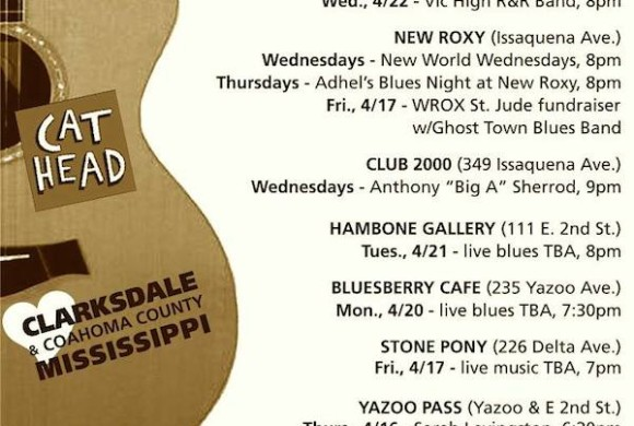 Sounds Around Town in Clarksdale week beginning Thursday, April 16, 2015