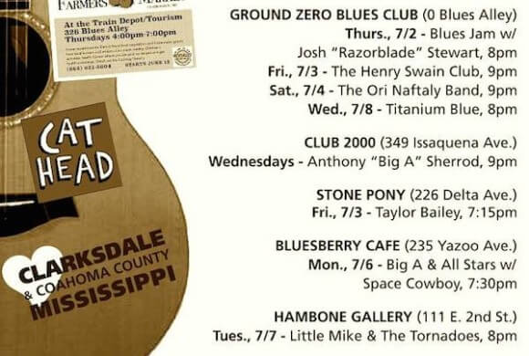 Sounds Around Town in Clarksdale week beginning Thursday, July 2, 2015