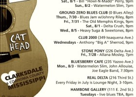 Sounds Around Town in Clarksdale week beginning Thursday, July 30, 2015